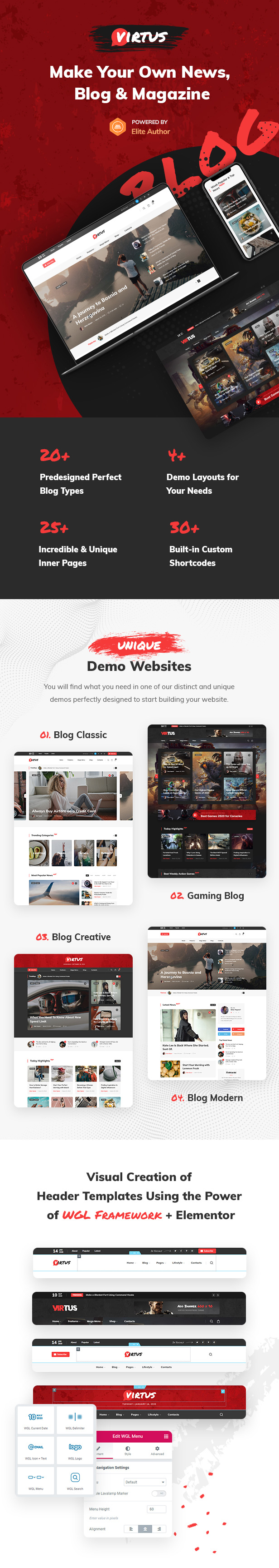 Virtus - Modern Blog & Magazine WordPress Theme - 1
